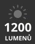 světelný tok až 1 200 lumenů