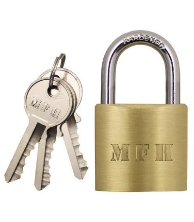 Visací zámek na klíč 6x4 cm + tři klíče
