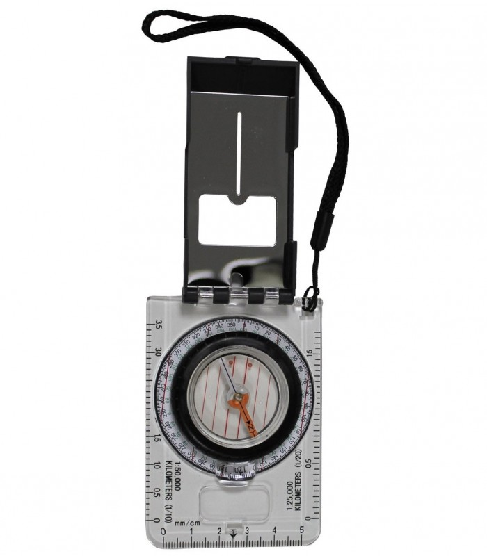 Buzola (kompas) pro práci s mapou v terénu