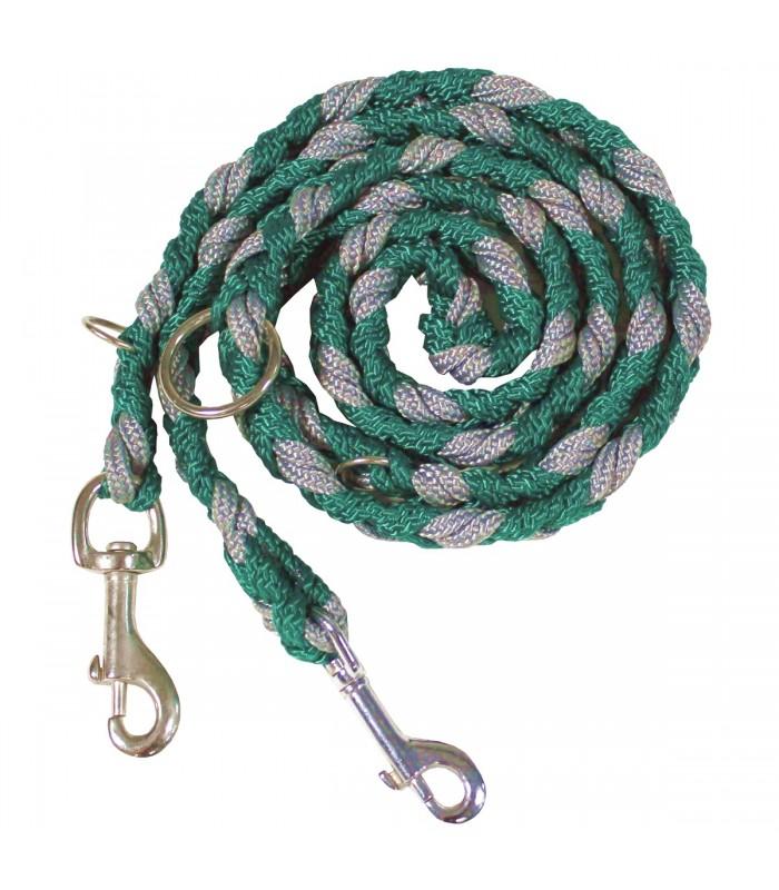 Vodítko pro psa šedo-zelené (dvoubarevné)