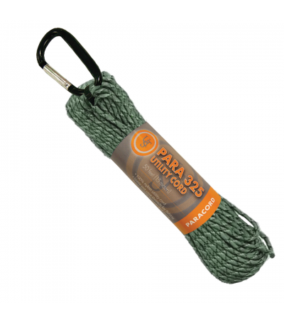 Šňůra para 325 - 15 m, zelená camo