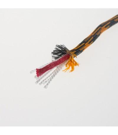 Přívěšek paratinder 2 ks - oranžovo šedá