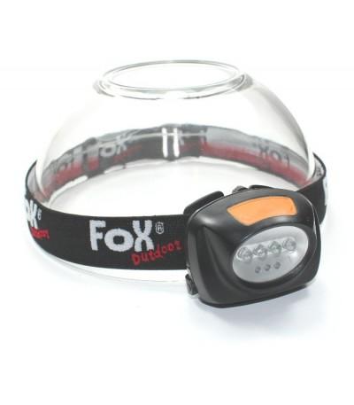 Čelovka Fox - 4 + 3 LED