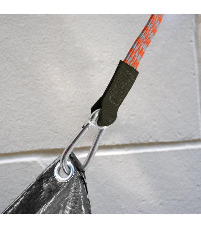 KLIPP popruh (guma) 46 cm + 2 karabiny