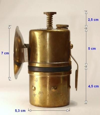 Karbidka hrníčková 115C - rozměry, i výška