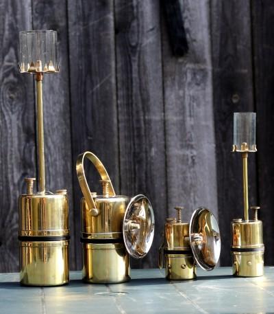 karbidové lampy - porovnání velikostí a typů